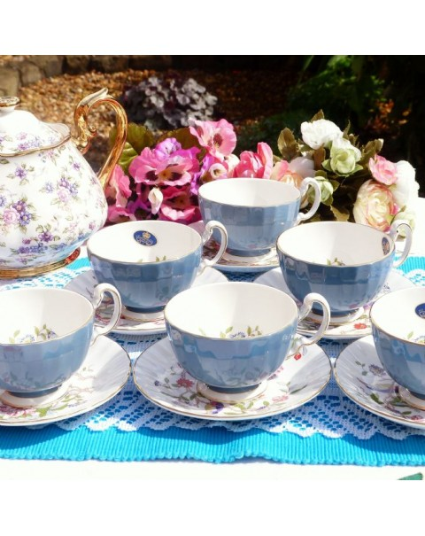(OUT OF STOCK) AYNSLEY PEMBROKE TEA SET